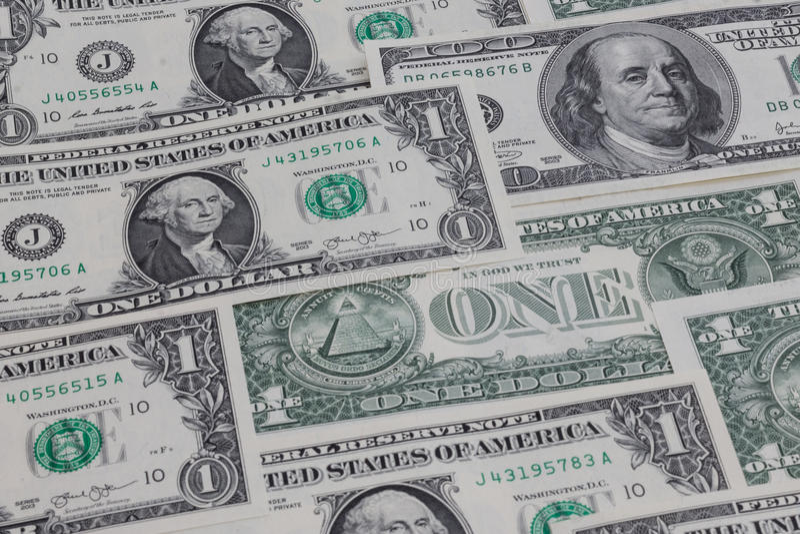 Amerikaanse dollarbehang royalty-vrije stock foto