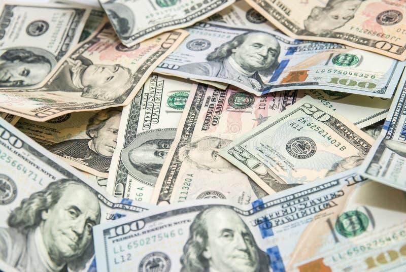 Amerikaanse dollars als achtergrond stock afbeelding