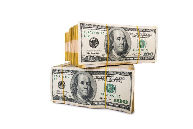 Amerikaanse dollarstapel stock afbeeldingen