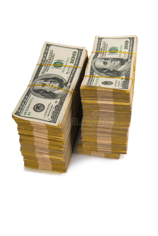 Amerikaanse dollarstapel royalty-vrije stock foto