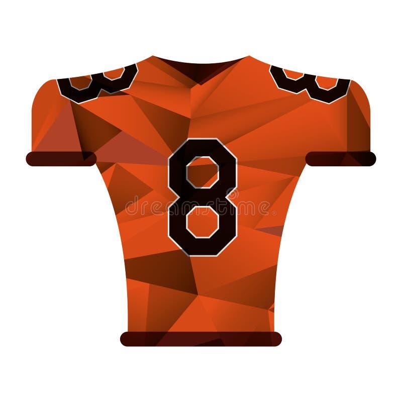 Amerikaanse eenvormige geometrische de t-shirtsamenvatting van voetbaljersey royalty-vrije illustratie