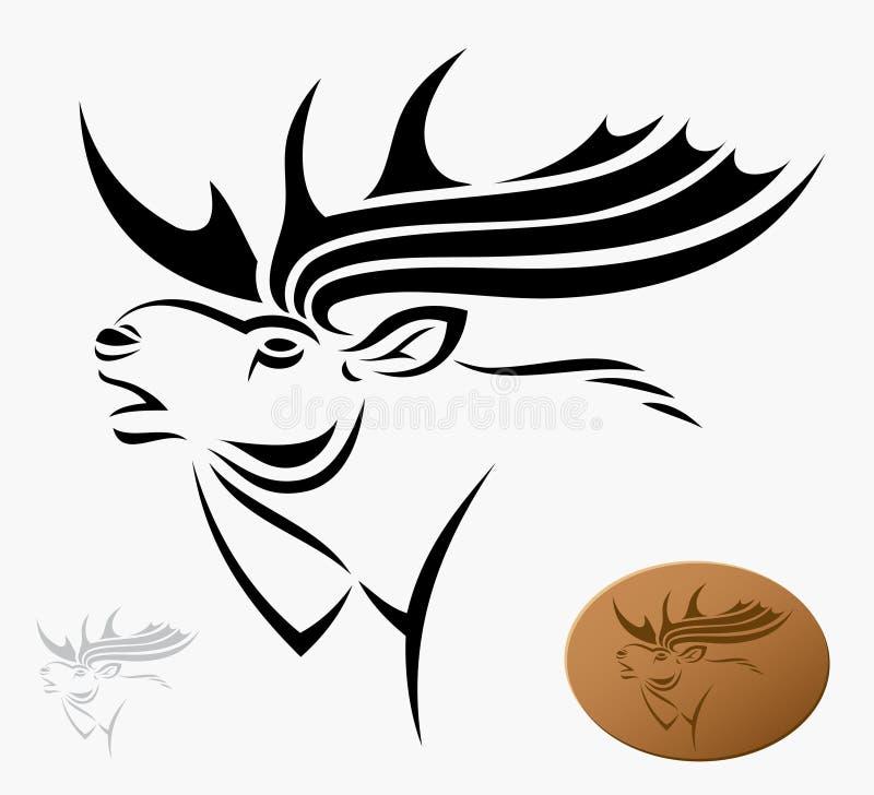 Amerikaanse elanden stock illustratie