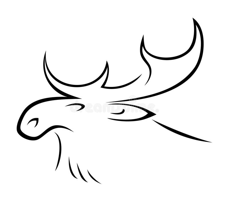 Amerikaanse elanden royalty-vrije illustratie