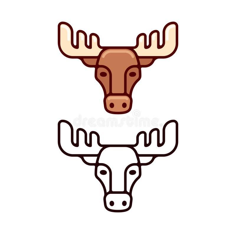 Amerikaanse elanden hoofdpictogram vector illustratie