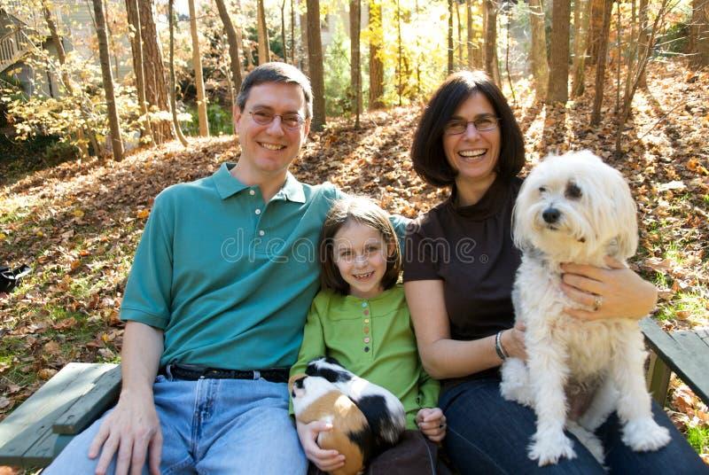 Amerikaanse Familie royalty-vrije stock fotografie