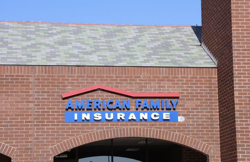 Amerikaanse Familieverzekering royalty-vrije stock fotografie