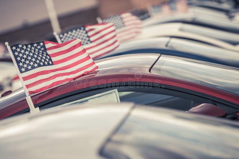 Amerikaanse Gemaakte Auto'sverkoop royalty-vrije stock foto's