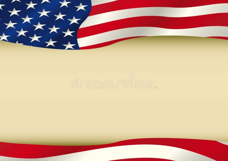 Amerikaanse golvende vlag royalty-vrije illustratie