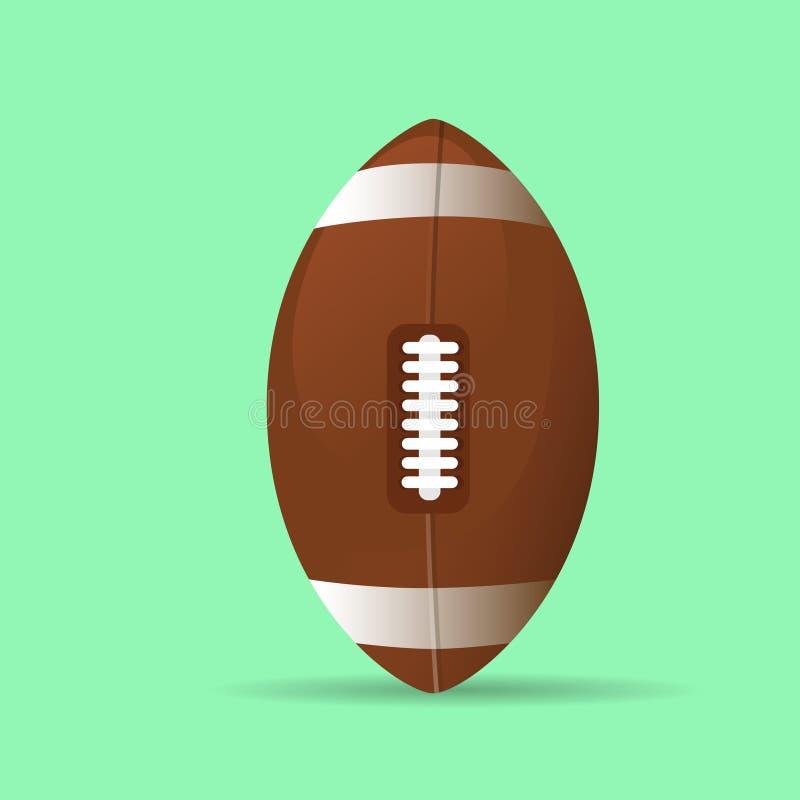 Amerikaanse het pictogram vlakke vector van de rugbybal vector illustratie