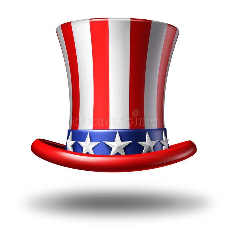Amerikaanse hoed vector illustratie