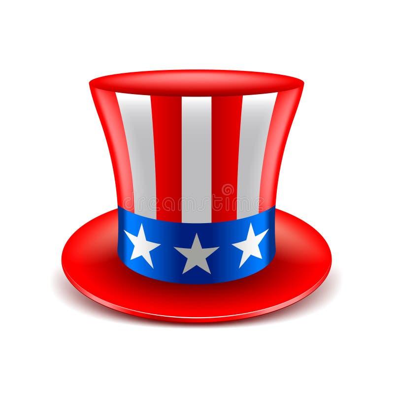 Amerikaanse hoed op witte vector vector illustratie