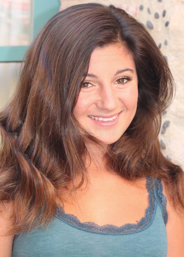 Amerikaanse Italiaanse tiener royalty-vrije stock fotografie