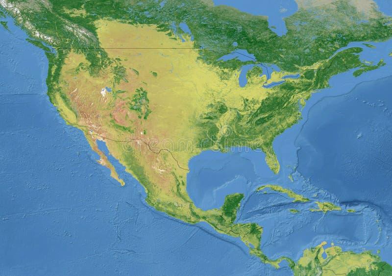 Amerikaanse Kaart, Nationale Grens royalty-vrije stock foto's