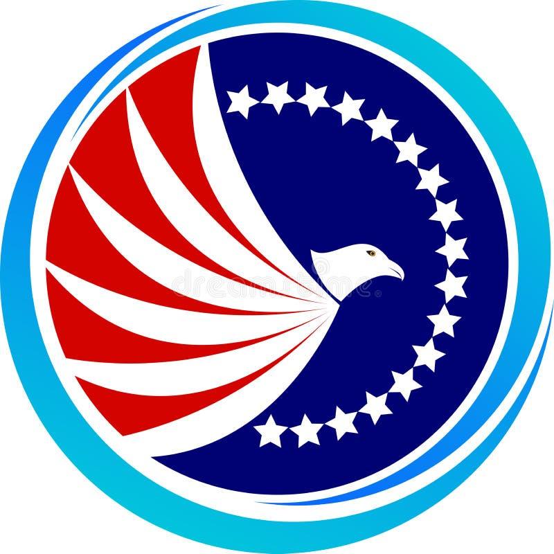 Amerikaanse kale adelaar stock illustratie
