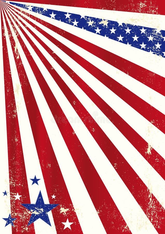 Amerikaanse koele vuile achtergrond. vector illustratie