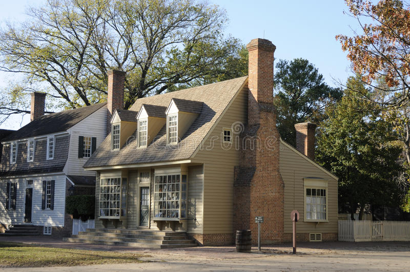 Amerikaanse koloniale huizen stock foto