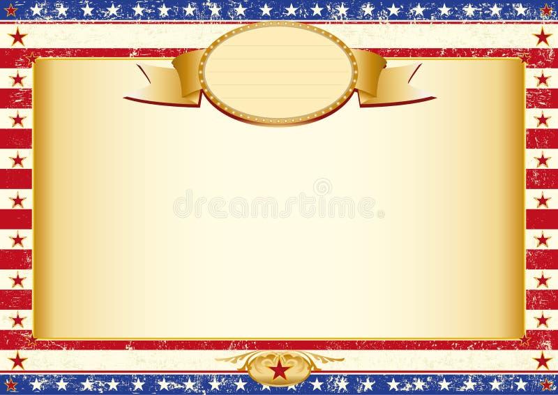 Amerikaanse kraftpapier-affiche royalty-vrije illustratie