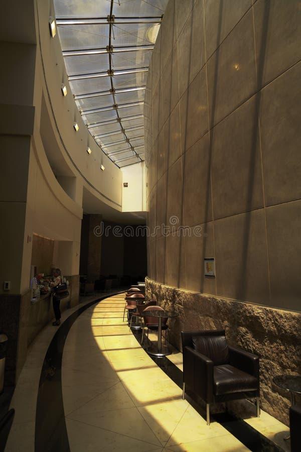 Amerikaanse Luchtvaartlijnzitkamer de luchthaven in van Dallas, Fort Worth, Texas, de V.S. stock afbeeldingen