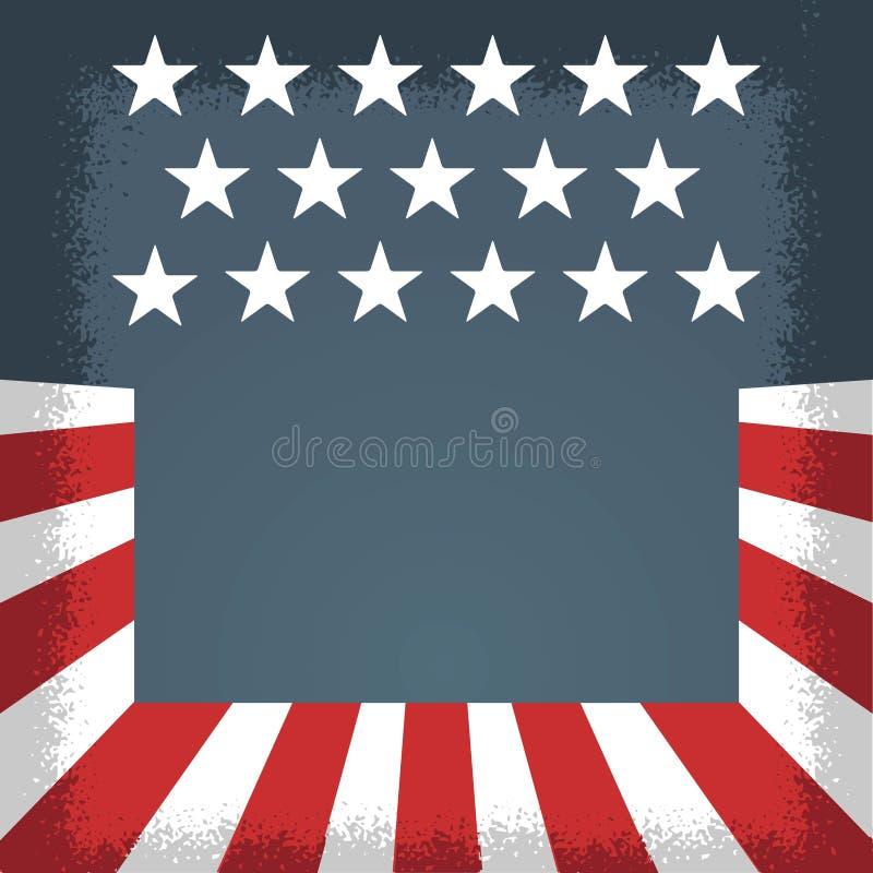 Amerikaanse onafhankelijkheidsdag, Amerikaanse vakantie en gebeurtenissen Politieke flayer blauwe wit en rood vector illustratie