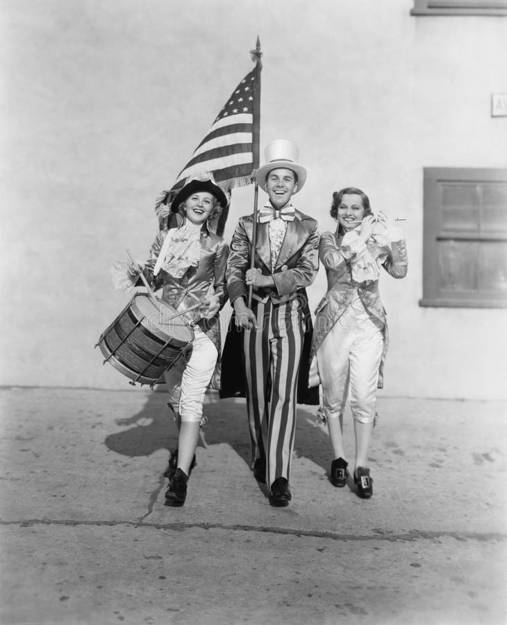 Amerikaanse patriotten (Alle afgeschilderde personen leven niet langer en geen landgoed bestaat Leveranciersgaranties dat er geen stock foto