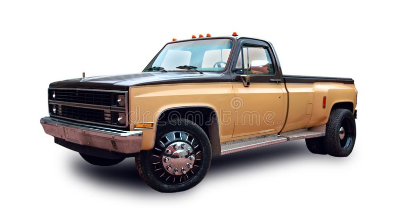 Amerikaanse pick-up Witte achtergrond stock foto