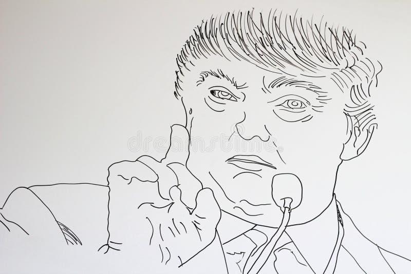 Amerikaanse politici royalty-vrije illustratie