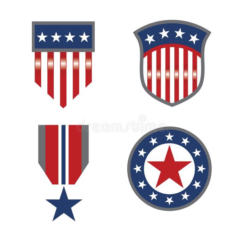 Amerikaanse reeks 3 stock illustratie