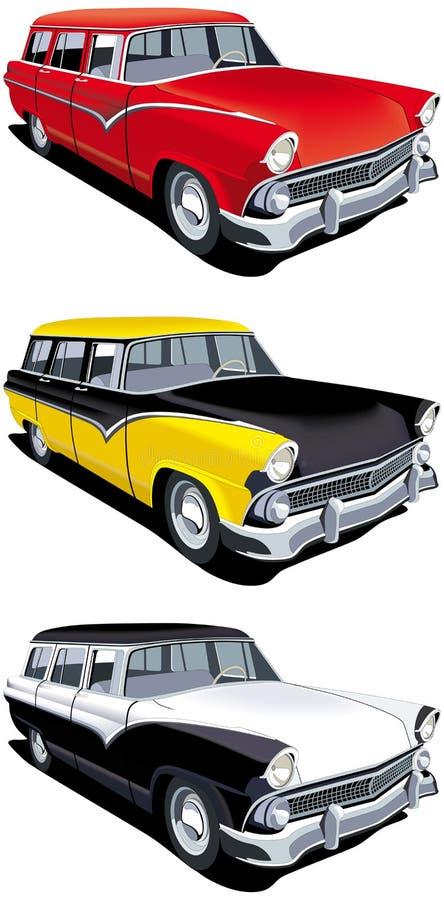 Amerikaanse retro stationcar royalty-vrije illustratie