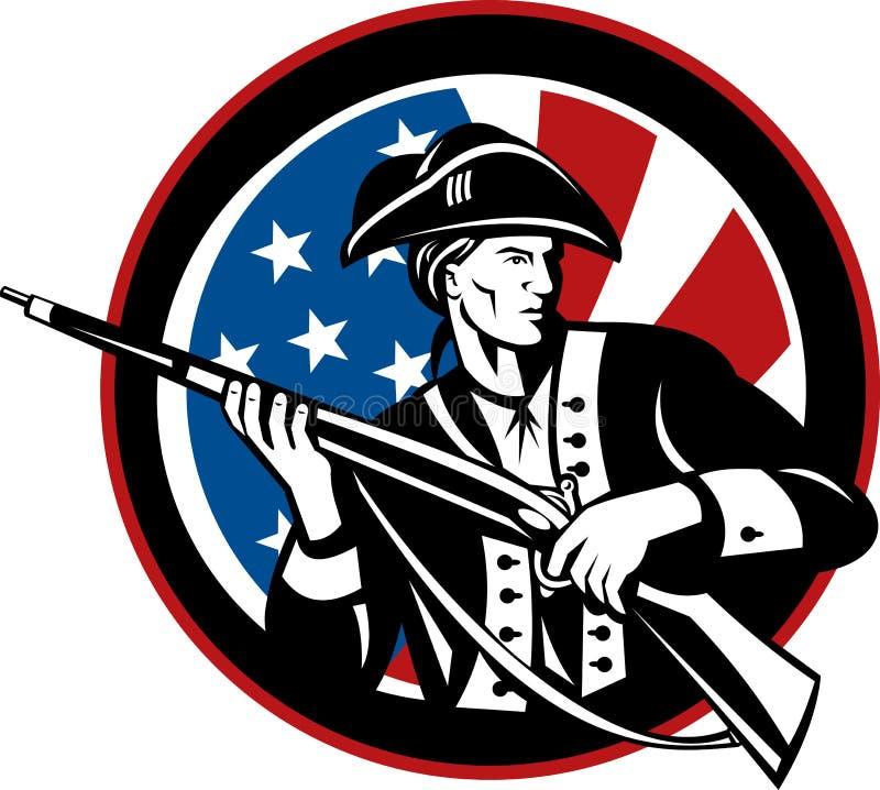 Amerikaanse revolutionaire militair stock illustratie