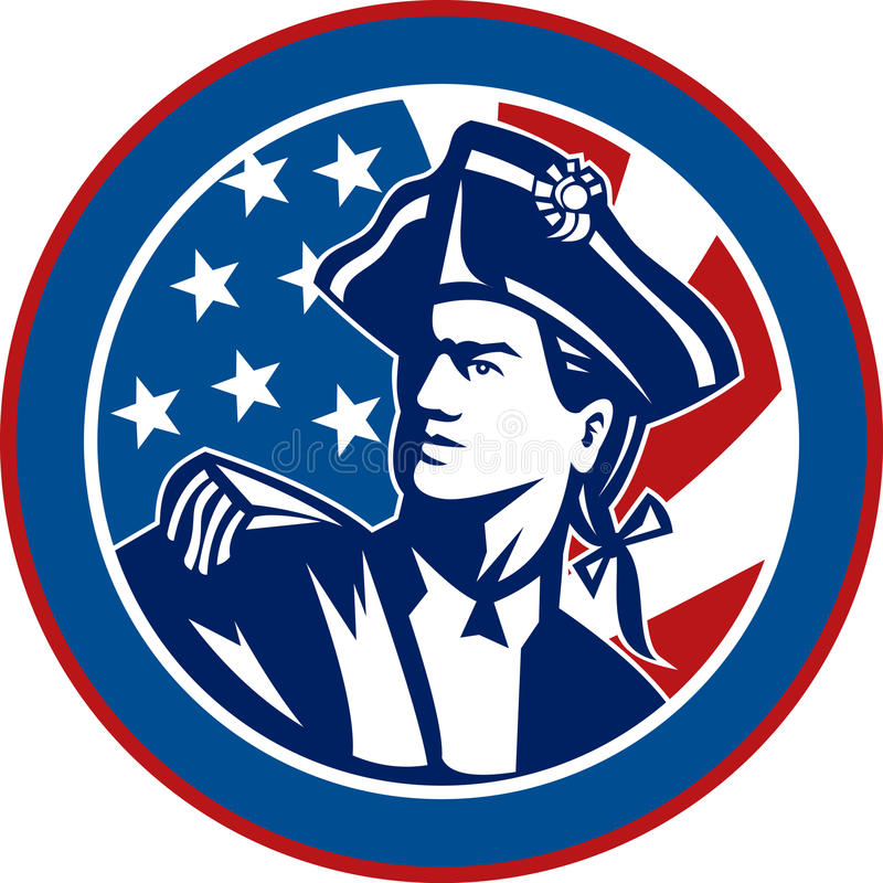 Amerikaanse revolutionaire militair vector illustratie