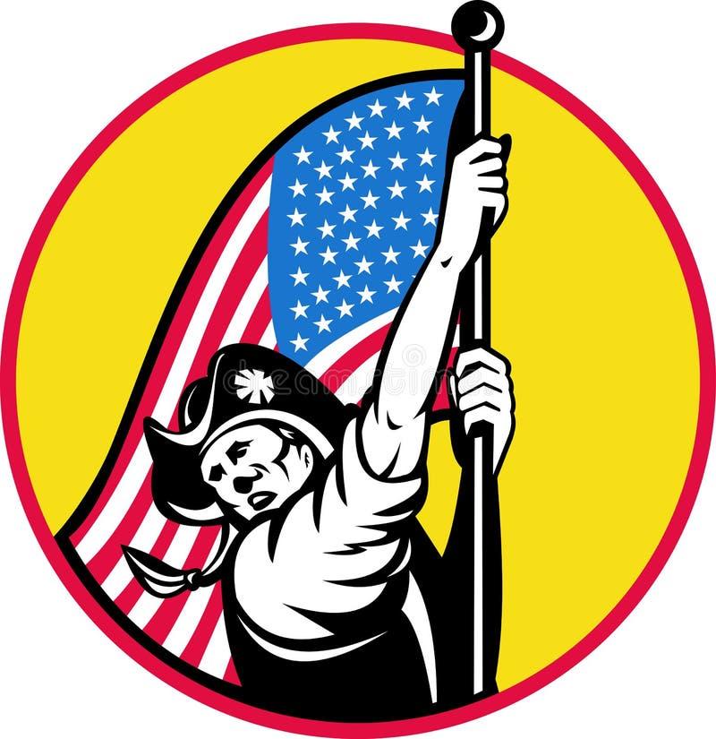 Amerikaanse revolutionaire vlag royalty-vrije illustratie
