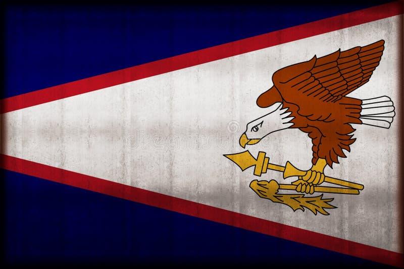Amerikaanse roestige de vlagillustratie van Samoa stock illustratie