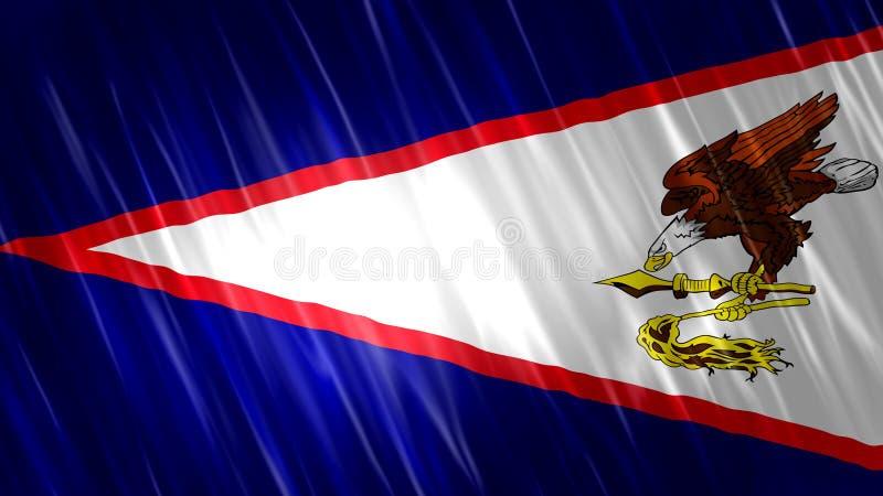 Amerikaanse Samoa vlag stock afbeeldingen