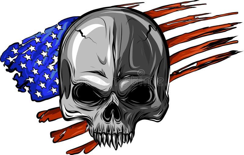 Amerikaanse schedel royalty-vrije illustratie