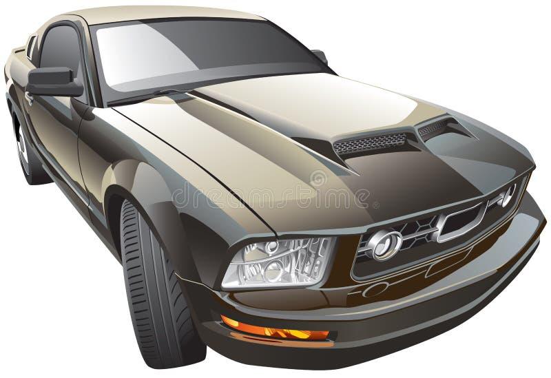 Amerikaanse sportwagen royalty-vrije illustratie