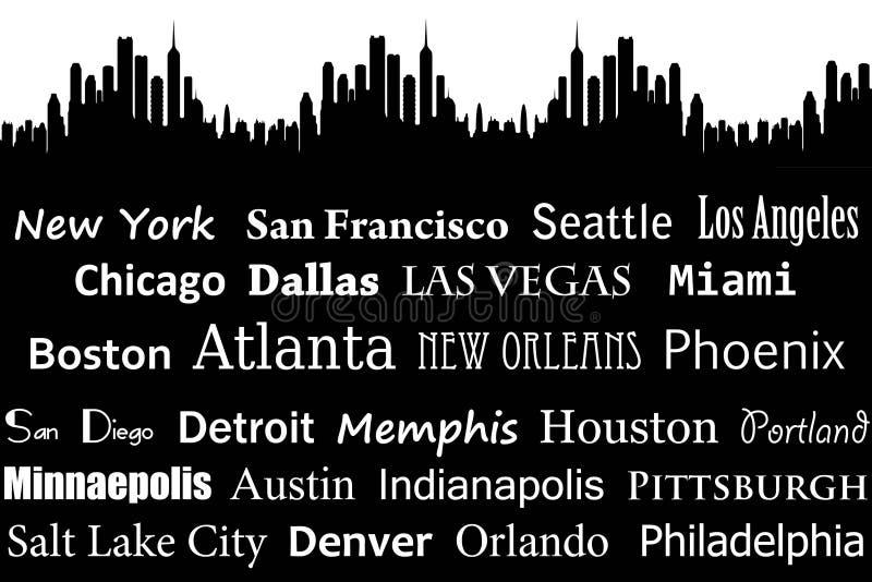 Amerikaanse steden vector illustratie