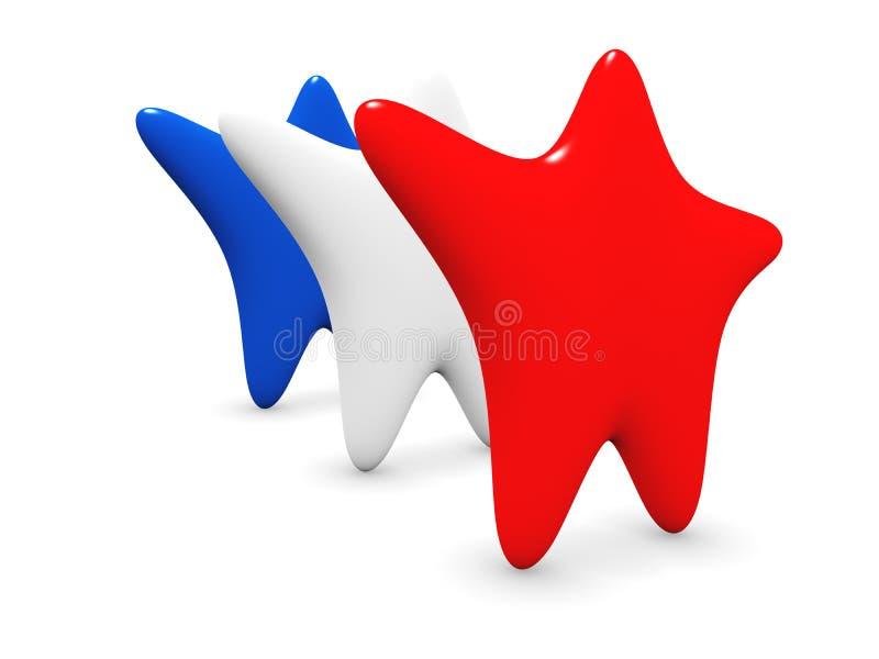Amerikaanse sterren royalty-vrije illustratie