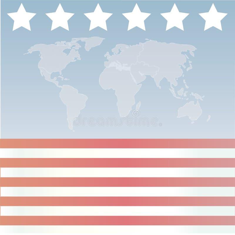 Amerikaanse Sterren en strepen Wor stock illustratie