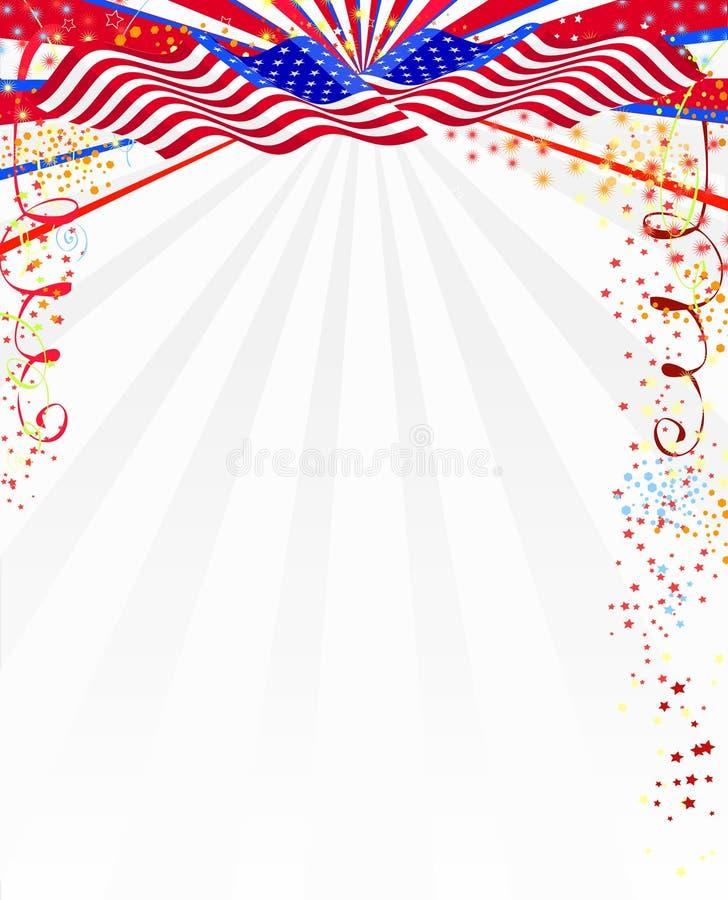 Amerikaanse stijlachtergrond vector illustratie
