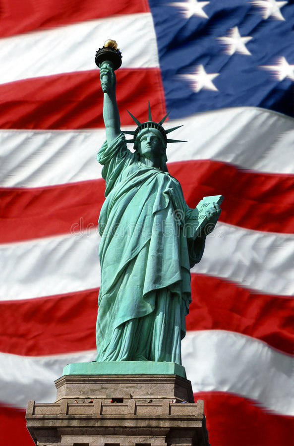 Amerikaanse Symbolen van Vrijheid royalty-vrije stock foto's