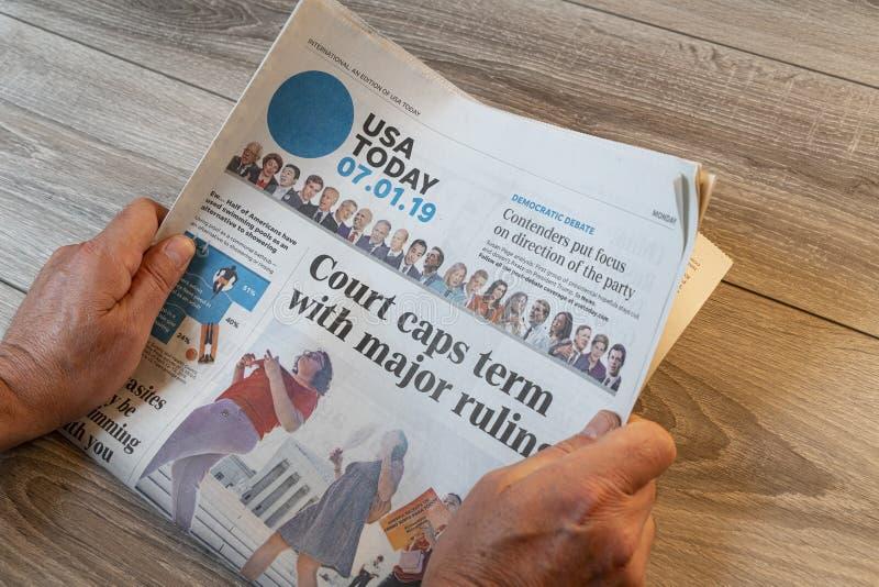 Amerikaanse USA Today-krant royalty-vrije stock foto