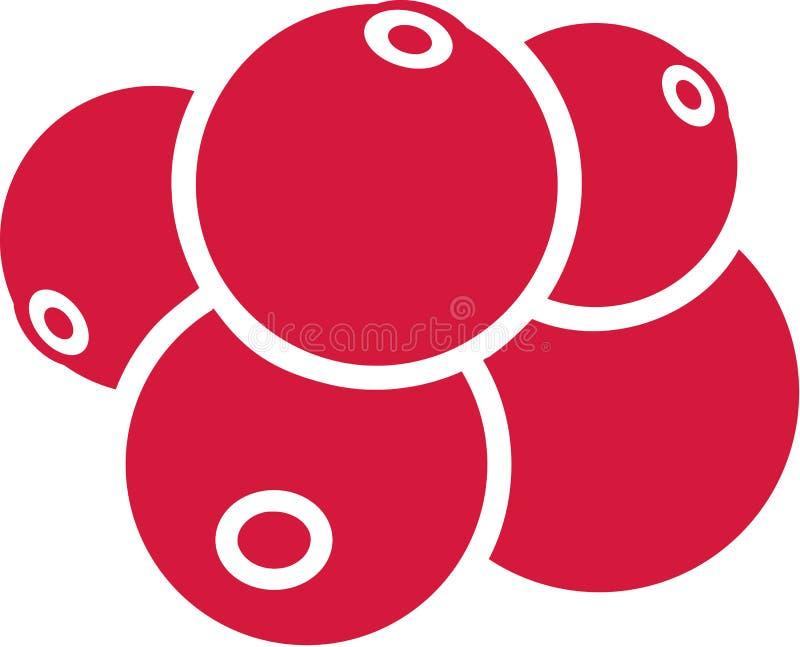 Amerikaanse veenbessen rode vector royalty-vrije illustratie