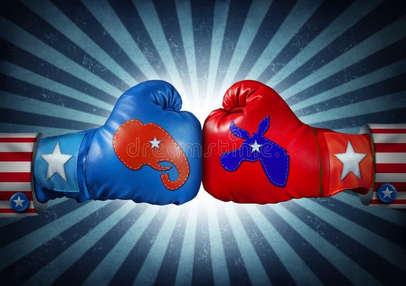 Amerikaanse Verkiezing royalty-vrije illustratie