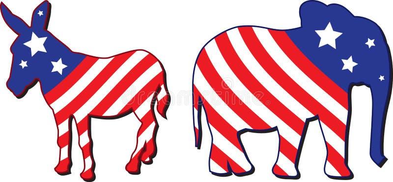 Amerikaanse verkiezings vectorillustratie royalty-vrije illustratie