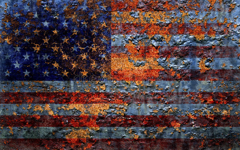 Amerikaanse vlag. royalty-vrije illustratie