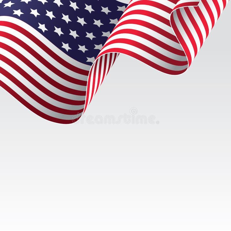 Amerikaanse vlag vector illustratie