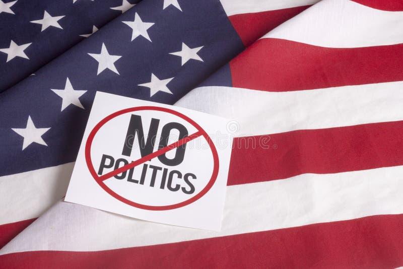 Amerikaanse Vlag - Geen politiek royalty-vrije stock afbeelding