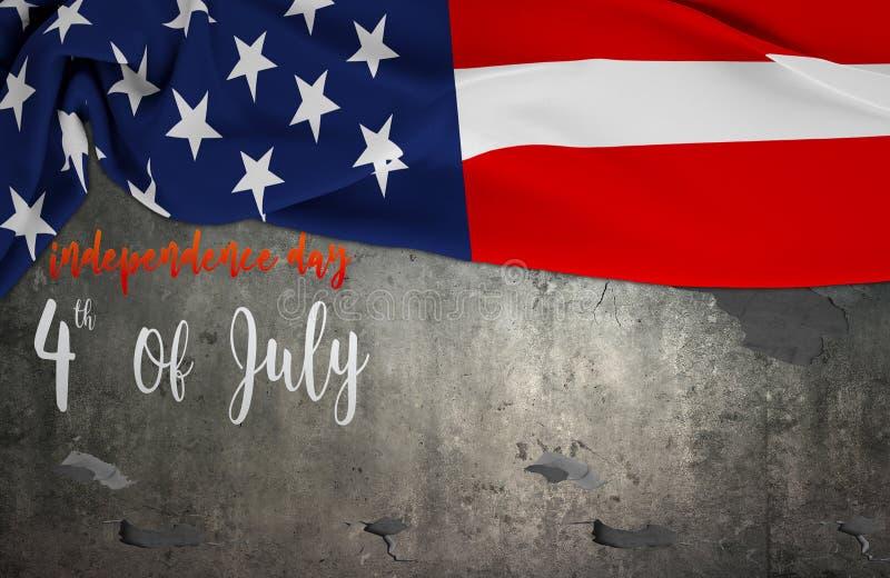 Amerikaanse vlag Memorial Day of vierde van Juli royalty-vrije stock foto's