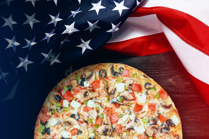 Amerikaanse vlag met plaats voor tekst stock foto's