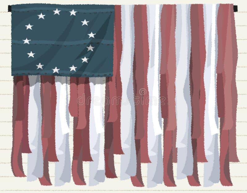 Amerikaanse vlag patriottische achtergrond royalty-vrije illustratie